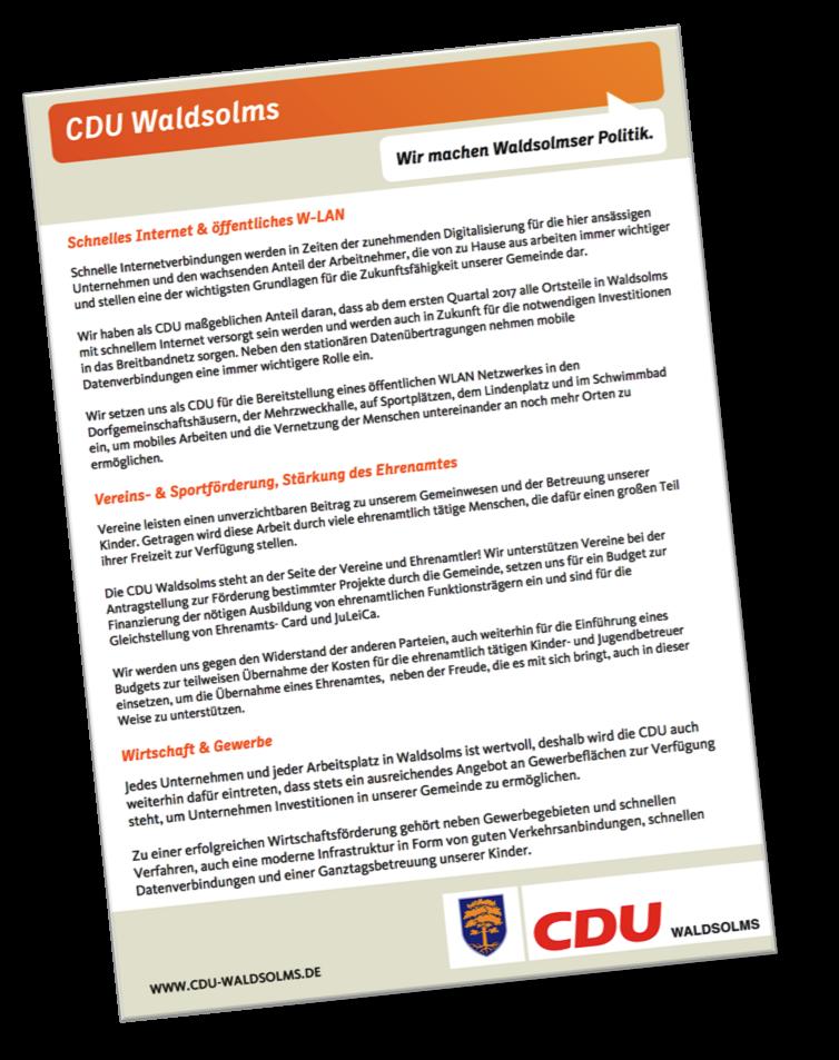 Parteiprogramm CDU Waldsolms